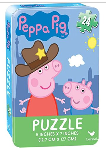 (Peppa Pig 24 piece Puzzle in Tin)
