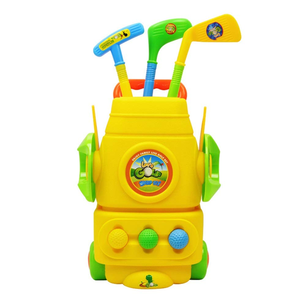 Golf Toys Set Children's Games Golf Toy Set Lawn Garden Outdoor Children's Games Lawn Games Outdoor Indoor Exercise Toy (Color, Size : 27.514.551cm) by JIANGXIUQIN-Toy