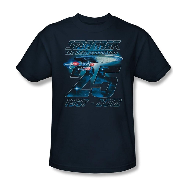 Star Trek - Mens Enterprise 25 T-Shirt In Navy