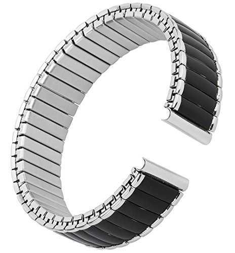 16-22mm Men's Classic Expansion Stainless Steel Watchband Replacement