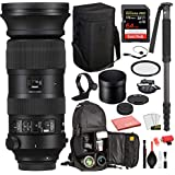 Sigma 60-600mm f/4.5-6.3 DG OS HSM Sports Lens for Nikon F (730955) with Bundle Package Deal Kit Includes: UV Filter + SanDisk Extreme Pro 64gb SD Card + More