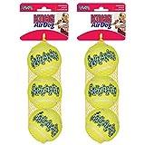 Cheap KONG Air Dog Squeakair Dog Toy Tennis Balls, Medium, 6-Balls