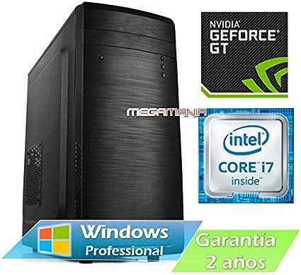 Megamania Ordenador Sobremesa Intel Core i7 7700 up to 4,2Ghz x 4 ...