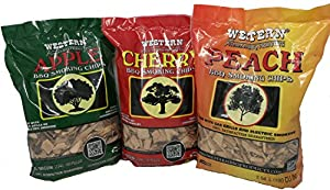 Western BBQ Smoking Chips Variety Pack Bundle (3) - Apple, Peach, Cherry … from Western BBQ Smoking Chips