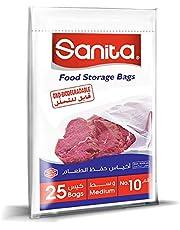 Sanita Food Storage Bags 10, 25 Bags, Oxo Biodegradable, Clear