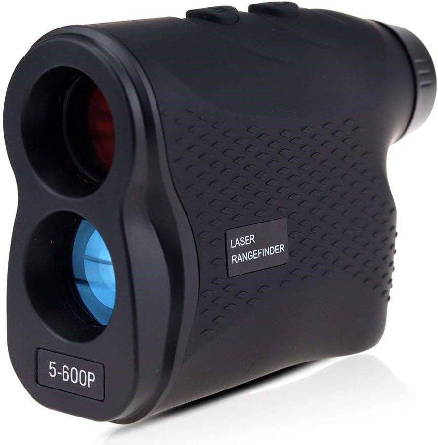 JINCH Telémetro de Golf 600m,Multifunciones Laser Rangefinder,6X Aumento,con Bloqueo de Bandera,Distancia,Medición de Velocidad,para Golf,Caza,Escalada en Roca al Aire Libre