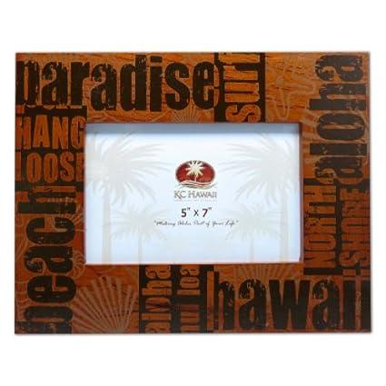 Amazon paradise hawaii screen print wooden frame 5 x 7 paradise hawaii screen print wooden frame 5quot reheart Gallery