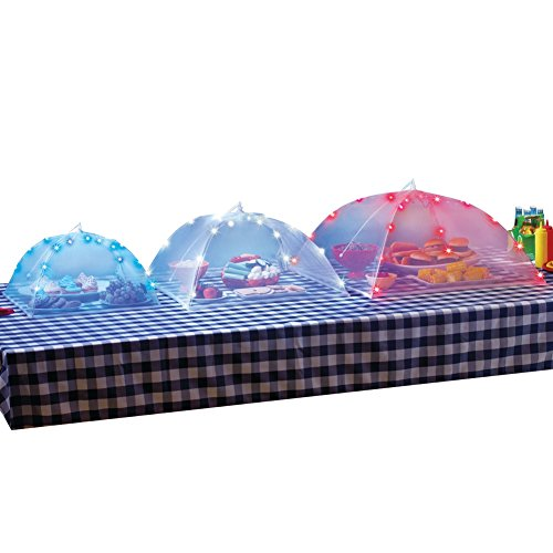Price comparison product image Lighted Food Mesh Tents - Set Of 3