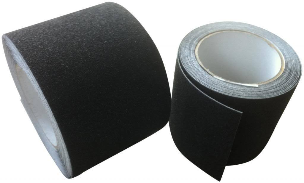 Rutschfestes Klebeband Hoch Griffiges Selbstklebende Rückseite Rutschfestes Band - Schwarz - 50mm x 3 Meter Direct Products