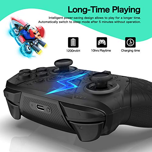 YCCTEAM Wireless Pro Controller Gamepad Compatible with Switch Support Amibo, Wakeup, Screenshot and Vibration Functions
