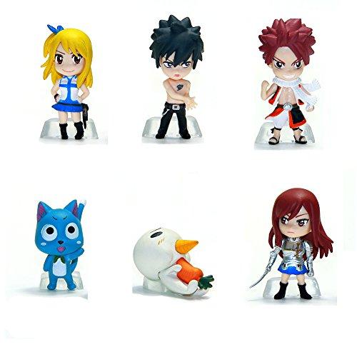 ATOROR Fairy Tail Figure Set - 6 Pcs Different Fairy Tail Anime -