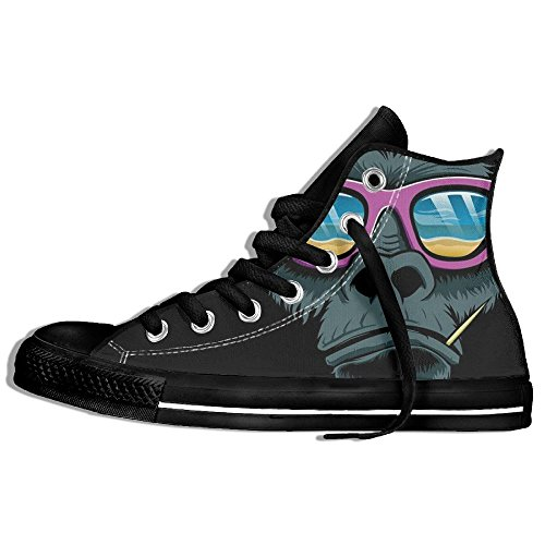 Classiche Sneakers Alte Scarpe Di Tela Anti-skid Cool Gorilla Occhiali Da Sole Casual Da Passeggio Per Uomo Donna Nero