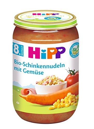 HiPP Bio-Schinkennudeln mit Gemüse, 6er Pack (6 x 220 g) 6540-01 Babynahrung