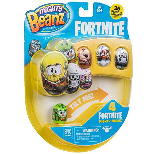 """MIGHTY BEANZ, Fortnite 4 Pack (Styles May Vary) Toy, Multicolor, 1"""" from MIGHTY BEANZ"""