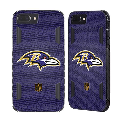 Official NFL Football Baltimore Ravens Logo Black Evolution Case for Apple iPhone 7 Plus / iPhone 8 - Black Football Case Baltimore Ravens