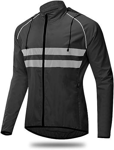 Mit Kapuze Fahrradjacken Herren//Damen,Ultraleichte Mountainbike Jacke,Atmungsaktiv Fahrradjacke Herren Sommer,Fahrrad Regenjacke,Radjacke Herren,F/ür Radfahren,Wandern Laufjack