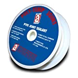POLY-TEMP 28077 White Joint Sealant 100% PTFE Gasket Material Expanded UHF Adhesive Tape, 1/4