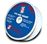 POLY-TEMP 28314 White Joint Sealant 100% PTFE Gasket Material Expanded UHF Adhesive Tape, 1/2'' x 150'