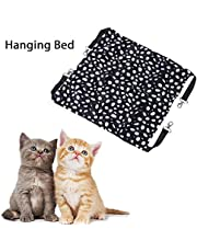 Sheens Cat Cage Hammock, Winter Warm Pet Swing Manta de Dormir Pet Hanging Bed for Cats Puppy Hurones Conejos Otros Animales pequeños(L-Punto)