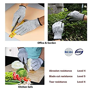 Venja New Kitchen Gloves Cooking Cut Resistant Gloves with Level 5 Protection Kitchen Glove Cutting Stand, Food Contact Safe Work Gloves 12