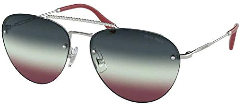 84b1240a38e Sunglasses Miu MU 54 US 1BC165 SILVER at Amazon Men s Clothing store