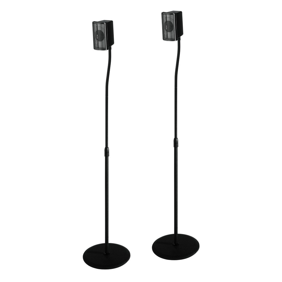 Hama Slim Supporto Universale Regolabile per Casse, 5 kg, 123 cm, Nero 00116211 123cm 5kg
