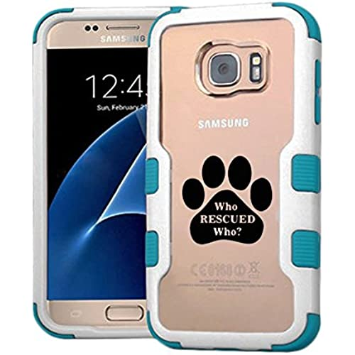 Galaxy S7 Case Who Rescued Who, Extra Shock-Absorb Clear back panel + Engineered TPU bumper 3 layer protection for Samsung Galaxy S7 (New 2016) Sales