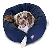 52 inch Blue & Sherpa Bagel Dog Bed By Majestic Pet Products