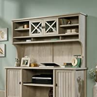Sauder Costa Large Hutch (only) in Chalked Chestnut