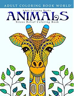 adult coloring books animals stress relief coloring book - Animals Coloring Book