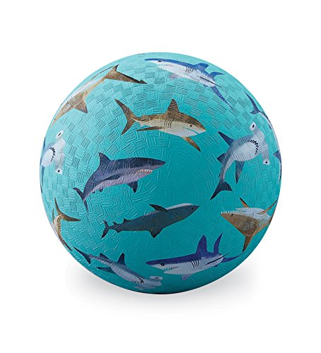 Shark Ball - Crocodile Creek 2166-5 Teal with Sharks Playground Balls, 7