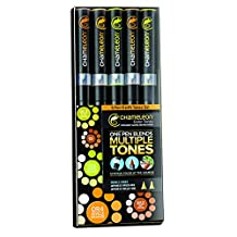 Chameleon Color Tones Marker Set 5 Color Set Earth Tones