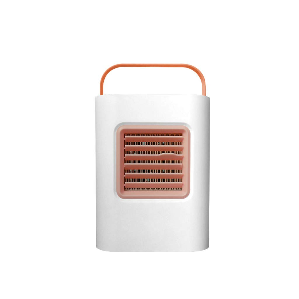 STORTO Air Cooler,USB Portable Mini Air Conditioner Cool Cooling for Bedroom Smart Cooler Fan Home Pink by STORTO Air Cooler