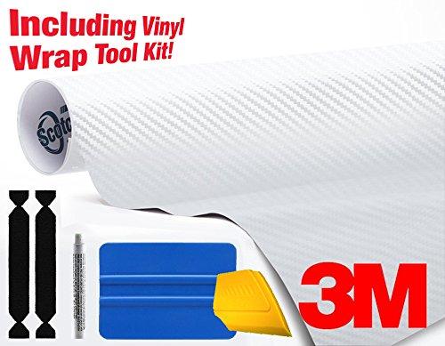 3m carbon fiber vinyl white - 2