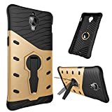 Oneplus3 hybrid Case,DAYJOY Unique Design Dual Layer Armor Shield Protective Shockproof with 360 degree adjustment Kickstand Case Cover For OnePlus 3 Three(GOLDEN)