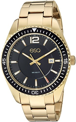 - ESQ Men's Dress Analog-Quartz Watch with Gold-Plated-Stainless-Steel Strap, 18 (Model: 37ESQE16101A)