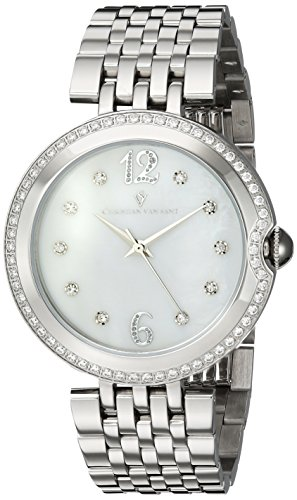 Christian Van Sant Women's 'Jasmine' Quartz Stainless Steel and Silicone Casual Watch, Color:Black (Model: CV1610)
