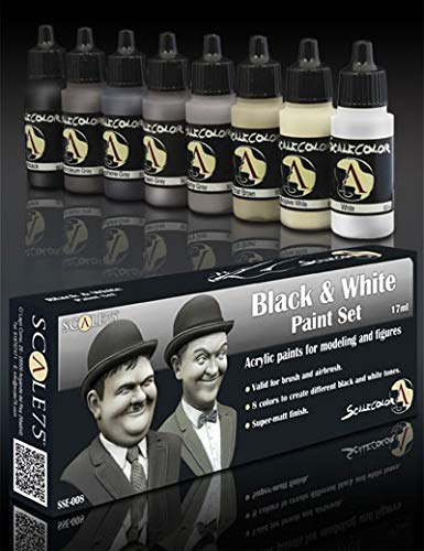 Scale 75 Scale Color Black and White Paint Set