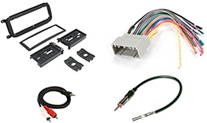 Radio Stereo Install Dash Kit + wire harness + antenna adapter for on jeep grand cherokee, jeep cherokee v12, jeep cherokee dvd player, jeep cherokee car speakers, jeep cherokee transfer case switch, jeep cherokee pioneer, jeep cherokee windshield washer pump, radio wiring harness, jeep cherokee subwoofer, jeep cherokee wiring diagram, jeep cherokee alternator,