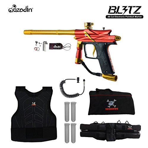 (MAddog Azodin Blitz 3 Sergeant Paintball Gun Package - Orange)