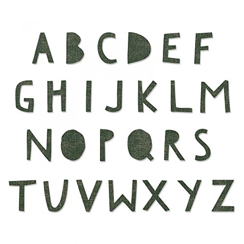Alphabet Junction - Sizzix 662707 Bigz X-Large Alphabet Die, Green