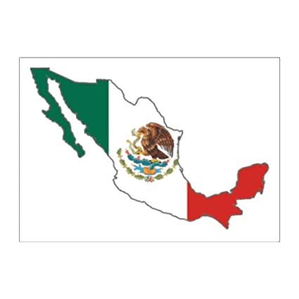 Amazon Com Teeburon Mexico Country Map Color Simple Pack Of 4
