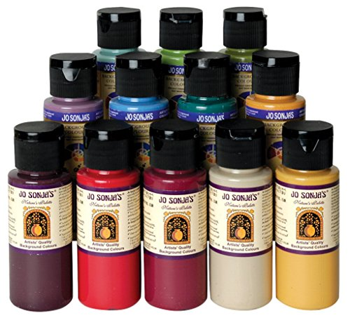 Chroma's Jo Sonja Potting Shed Color Collection, 2 oz Bottle, Multiple Color, Set of 12