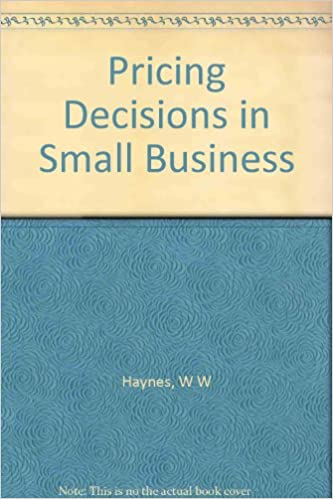 Book Pricing decisions in small business (Small business management research reports)