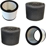 HQRP 2-Pack Cartridge Filter and 2-Pack Foam Sleeve for Shop-Vac 92L600C 92M300 92M650C 92P350 92P600A 92P650A Vacuum Cleaner + HQRP Coaster