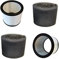 HQRP 2-Pack Cartridge Filter and 2-Pack Foam Sleeve for Shop-Vac 903-04-00 9030400 90304 903-50-00 9058500 905-85-00 90585 Vacuum Cleaner + HQRP Coaster