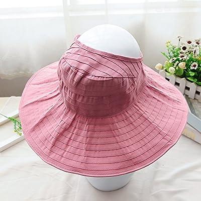 À l'été, chapeaux de plage sports loisirs plein air fashion chapeaux chapeau de soleil pliable, réglable, Rose