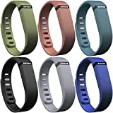 SKYLET Fitbit Flex Replacement Band with Metal Clasp (Secure Rings for Free, No Tracker)(Large,6pcs for boy)