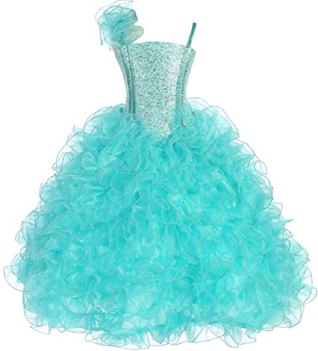 Little-Girls-Princess-Pageant-Girl-Ball-Gown-Flowers-Girls-Dresses