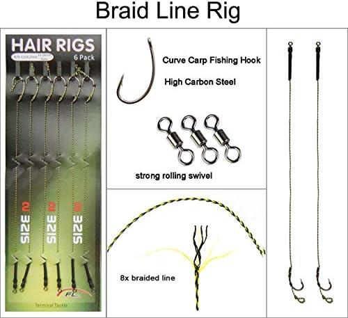 5 x CARP HAIR RIGS WITH BOILIE SCREWS CHOICE LINE HOOKS BB-1